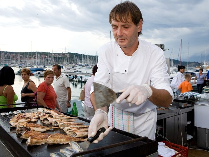 Traditional fishermen's festival in Isola