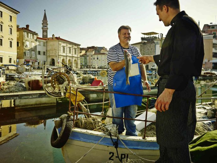 In Piran, fishing is a traditional activity